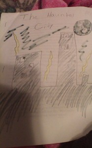 The Haunted City, by my fourth grade self.